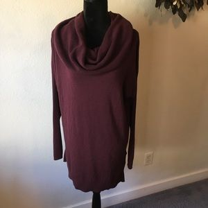 Caslon burgundy cowl neck sweater size Large